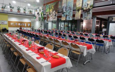Repas solidaire au Lycée Professionnel Auguste Bartholdi à Barentin